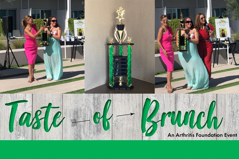 Arthritis Health wins an award at the Arthritis Foundation Taste of Brunch event